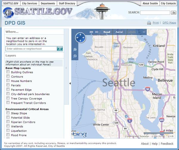 Seattle GIS Tool