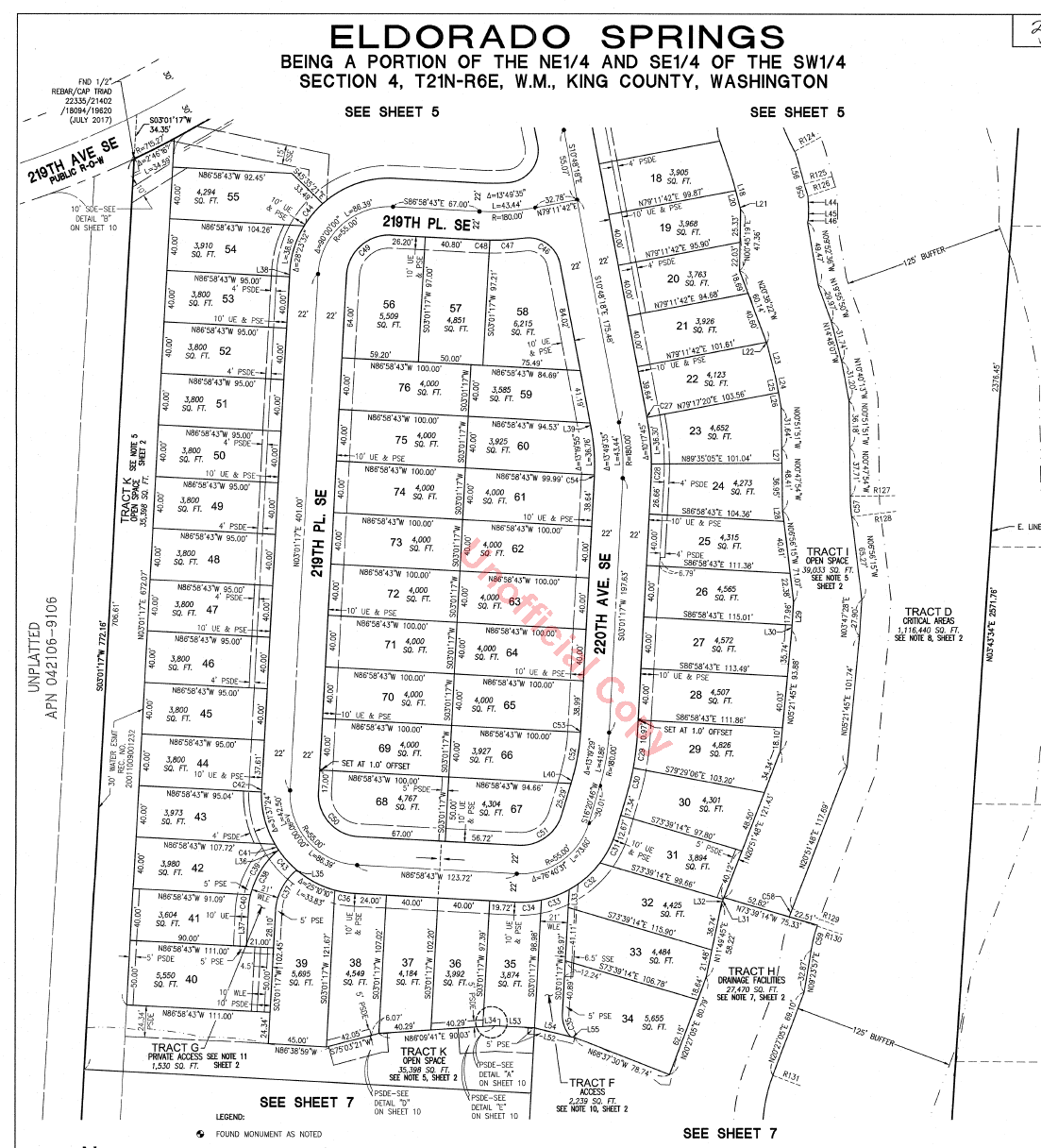 Eldorado Springs Plat Map